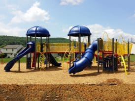 Sinking Sing Playground Excavation from Mosey Landscapes, a landscaper in Harrisburg, PA