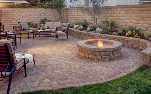 Mosey Landscapes hardscaping harrisburg pa services at a backyard of a home