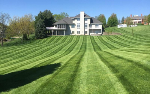 Mosey Landscapes lawn care harrisburg pa services in a 2 acre residential lot